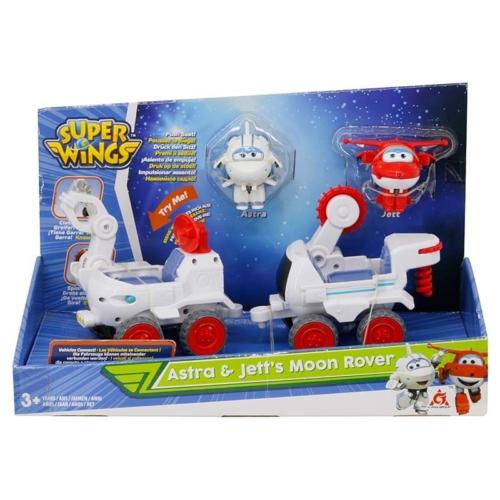 Super Wings holdjárógépek átalakuló játékrepülőkkel, Astra, Jett