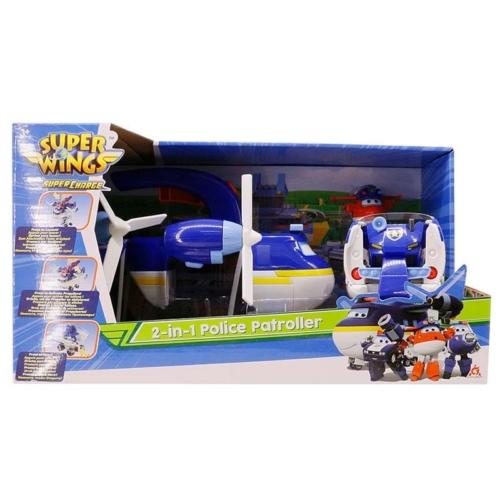 Super Wings Police Patroller, Paul Police 2 az 1-ben rendőrjárőr játékszett, Jett