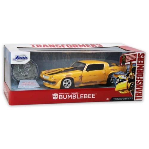 Transformers Bumblebee 1977 Chevy Camaro fém autó 1:24