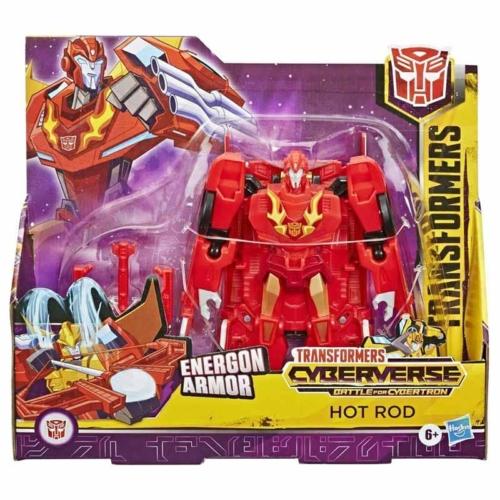Transformers Cyberverse Energon Armor Hot Rod átalakítható játékfigura