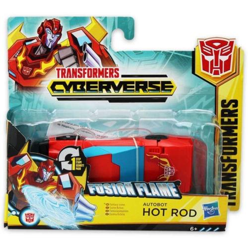 Transformers Cyberverse Fusion Flame Hot Rod átalakítható játékfigura